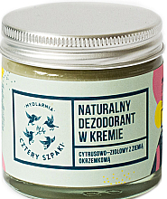 Fragrances, Perfumes, Cosmetics Deodorant-Cream with Citrus-Herbal Scent - Cztery Szpaki