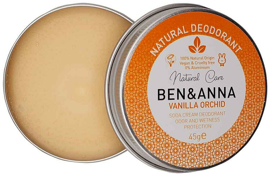 Natural Creamy Deodorant - Ben & Anna Vanilla Orchid Soda Cream Deodorant