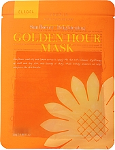 Fragrances, Perfumes, Cosmetics Brightening Facial Sheet Mask - Elroel Golden Hour Mask Sunflower Brightening