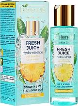Fragrances, Perfumes, Cosmetics Skin Glowing Hydro Essence - Bielenda Fresh Juice Brightening Hydro Essence Pineapple