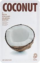 "Fragrances, Perfumes, Cosmetics Facial Sheet Shiny Mask ""Coconut"" - The Iceland Coconut Mask"