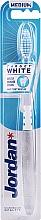 Fragrances, Perfumes, Cosmetics Medium Hardness Toothbrush, transparent-white - Jordan Target White