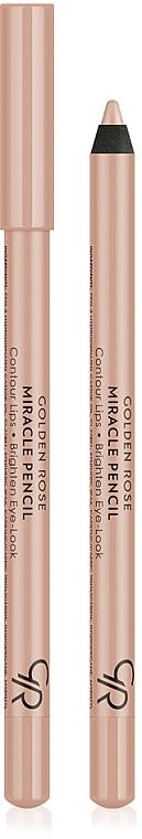 Eye & Lip Pencil - Golden Rose Miracle Pencil Contour Lips Brighten Eye-Look