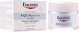 Fragrances, Perfumes, Cosmetics Face Cream - Eucerin AquaPorin Active Deep Long-lasting Hydration For All Skin Types SPF 25 + UVA