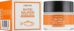 Fragrances, Perfumes, Cosmetics Nourishing Cream with Salmon Oil - Lebelage Ampule Cream Nutri Salmon