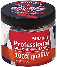 Fragrances, Perfumes, Cosmetics Silicone Elastic Hair Bands, black - Ronney Professional Silicone Hair Bands