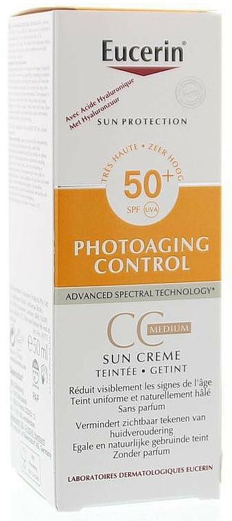 CC Cream - Eucerin Sun Photoaging Control CC Cream Medium SPF50+ — photo N1