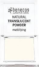 Fragrances, Perfumes, Cosmetics Transparent Mattifying Face Powder - Benecos Natural Translucent Powder Mission Invisible