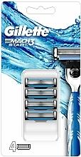 Fragrances, Perfumes, Cosmetics Shaving Razor Refills, 4 pcs. - Gillette Mach3 Start Razor Blades