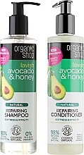 Fragrances, Perfumes, Cosmetics Hair Repair Set - Organic Shop (h/shm/280ml + h/cond/280ml)