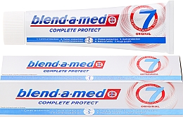 Fragrances, Perfumes, Cosmetics Toothpaste - Blend-a-med Complete Protect 7 Original