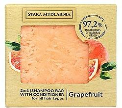 Fragrances, Perfumes, Cosmetics Grapefruit Shampoo-Conditioner Bar - Stara Mydlarnia Grapefruit 2in1 Shampoo Bar