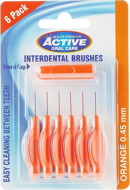 Interdental Brush, 0,45 mm, orange - Beauty Formulas Active Oral Care Interdental Brushes