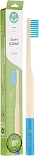 Fragrances, Perfumes, Cosmetics Soft Bamboo Toothbrush, blue - Biomika Natural Bamboo Toothbrush