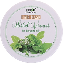 Fragrances, Perfumes, Cosmetics Damaged Hair Mask - Eco U Hair Mask Herbal Vinegar For Damaged Hair