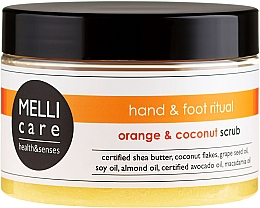 Fragrances, Perfumes, Cosmetics Body Scrub - Melli Care Orange&Coconut Scrub
