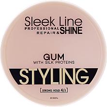 Fragrances, Perfumes, Cosmetics Hair Gel - Stapiz Sleek Line Styling Gum With Silk