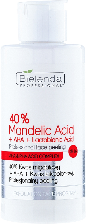 "Professional Peeling ""40% Mandelic Acid + AHA + Lactobionic Acid"" - Bielenda Professional Exfoliation Face Program 40% Mandelic Acid + AHA + Lactobionic Acid"