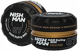 Fragrances, Perfumes, Cosmetics Hair Styling Wax - Nishman Hair Styling Wax 07 Gold One