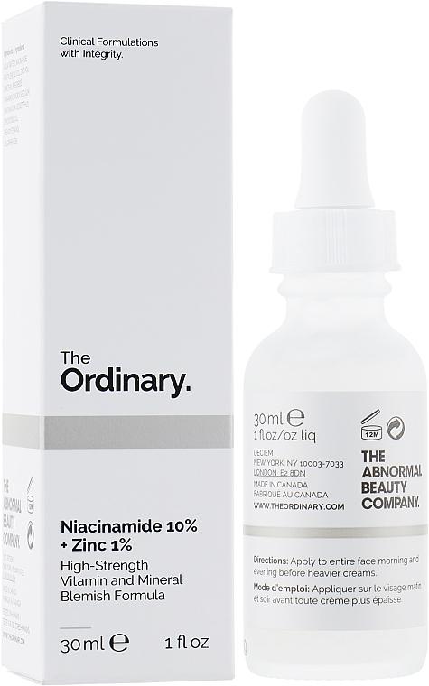 Niacinamide & Zinc Face Serum - The Ordinary Niacinamide 10% + Zinc PCA 1%