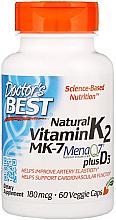 Fragrances, Perfumes, Cosmetics Natural Vitamin K2 MK-7 with MenaQ7 and Vitamin D3, 180 mcg, capsules - Doctor's Best