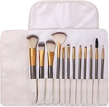 Fragrances, Perfumes, Cosmetics Professional Makeup Brush Set in Case, 12 pcs - Lewer