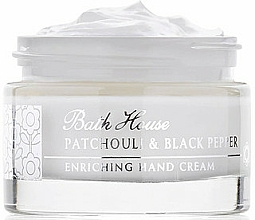 Fragrances, Perfumes, Cosmetics Bath House Patchouli & Black Pepper - Hand Cream