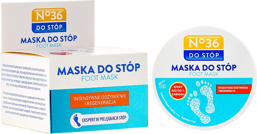 "Foot and Nail Mask ""Repair"" for Very Dry Skin - Pharma CF No.36 Foot Mask"