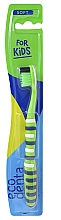 Fragrances, Perfumes, Cosmetics Kids Soft Toothbrush, green - Ecodenta Soft Toothbrush For Children