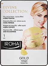 Fragrances, Perfumes, Cosmetics Moisturizing & Nourishing Mask with Firming Effect - Iroha Divine Collection Gold & Collagen