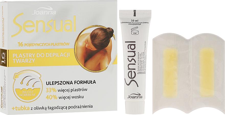 Face Depilation Wax Strips for Normal Hair - Joanna Sensual Dipilatory Face Strips