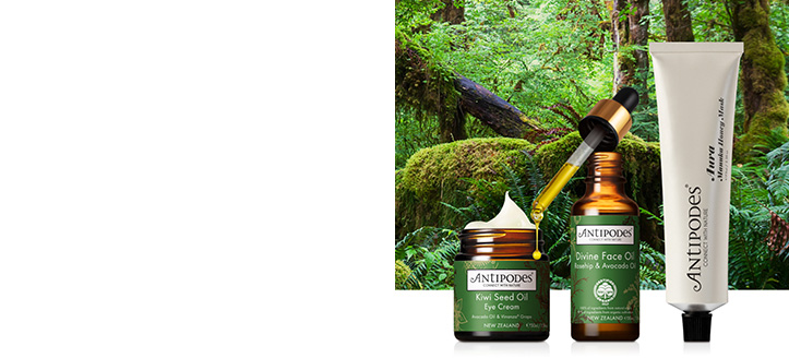 Get a free Reincarnation Pure Facial Exfoliator when buying two products from Antipodes