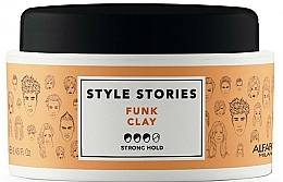 Fragrances, Perfumes, Cosmetics Strong Hold Styling Hair Pomade - Alfaparf Style Stories Funk Clay Strong Hold