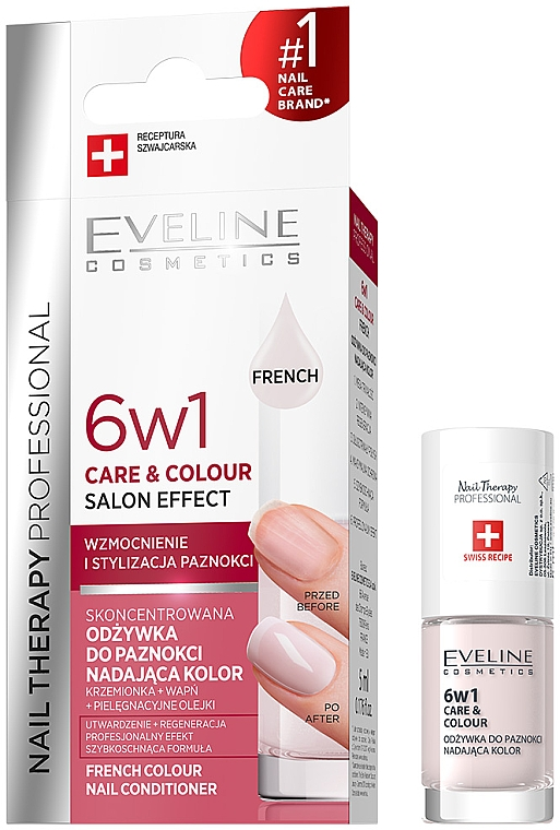 Strengthening Nail Polish 6 in 1 - Eveline Cosmetics Nail Therapy Professional