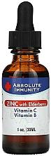 "Fragrances, Perfumes, Cosmetics Dietary Supplement ""Immunity"" - Absolute Nutrition Immunity Zinc With  Elderberry Vitamin C & Vitamin B"