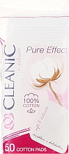 "Fragrances, Perfumes, Cosmetics Cosmetic Cotton Pads ""Pure Effect"", 50 pcs - Cleanic Face Care Cotton Pads"