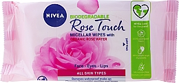 Fragrances, Perfumes, Cosmetics Makeup Remover Wipes with Rose Water - Nivea Micellair Skin Breathe Makeup