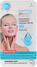 Fragrances, Perfumes, Cosmetics Gel Patches for Eyes - Dermo Pharma 4D Moisturizing & Refreshing Gel Patches