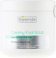 Fragrances, Perfumes, Cosmetics Creamy Foot Scrub - Bielenda Professional Foot Paradise Creamy Foot Scrub With Almond Oil And Urea