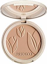 Fragrances, Perfumes, Cosmetics Compact Face Powder - Artdeco Green Couture Natural Finish Makeup