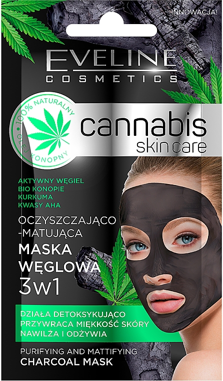 Face Mask - Eveline Cosmetics Cannabis Mask