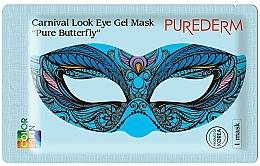 Fragrances, Perfumes, Cosmetics Hydrogel Eye Mask - Purederm Carnival Look Eye Gel Mask Pure Butterfly