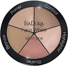 Fragrances, Perfumes, Cosmetics Makeup Palette 5 in 1 - IsaDora Face Wheel All-In-One