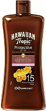 Fragrances, Perfumes, Cosmetics Sunscreen Protective Dry Oil SPF15 - Hawaiian Tropic Protective Oil SPF 15