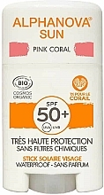 Fragrances, Perfumes, Cosmetics Sunscreen Stick - Alphanova Sun Pink Coral SPF50+