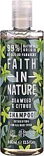Fragrances, Perfumes, Cosmetics Shampoo for all Hair Types 'Sea Algae and Citrus' - Faith In Nature Seaweed & Citrus Shampoo