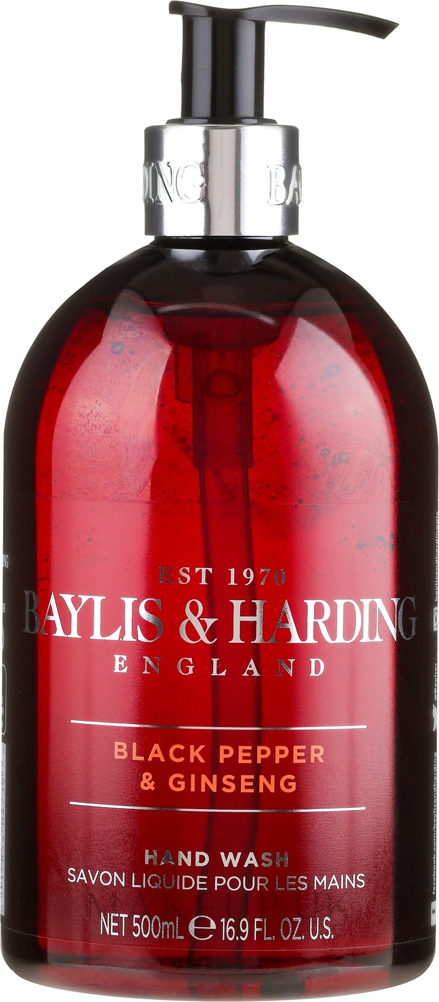 Hand Liquid Soap - Baylis & Harding Black Pepper & Ginseng Hand Wash — photo 500 ml