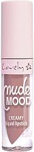 Fragrances, Perfumes, Cosmetics Liquid Lipstick - Lovely Nude Mood Creamy Liquid Lipstick