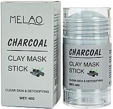 Fragrances, Perfumes, Cosmetics Charcoal Facial Mask Stick - Melao Charcoal Clay Mask Stick