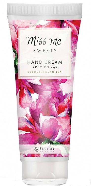 "Moisturising Hand Cream ""Coconut Milk & Vanilla"" - Barwa Miss Me Sweety Coco Milk & Vanilla"